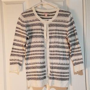 Balck and white bright Merona cardigan sweater